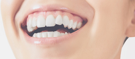 Close up of healthy smiling mouth